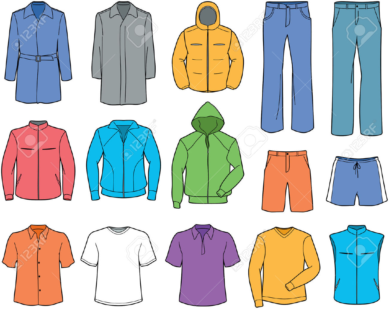 Free clothing clipart jpg black and white Clothes Clip Art   Clipart Panda - Free Clipart Images jpg black and white
