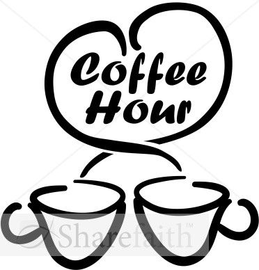 Free coffee hour clipart vector freeuse library Coffee Hour With Loving Coffee Cups | coffee | Coffee cups, Coffee ... vector freeuse library