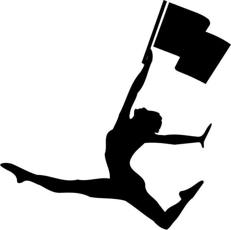 Free color guard clipart jpg black and white download Impressive Color Guard Clip Art Free Easy Colorguard Cliparts ... jpg black and white download