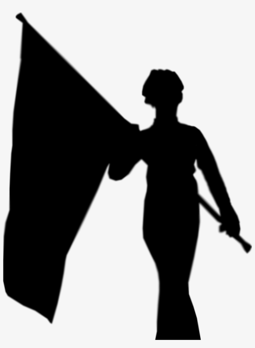 Rotc color guard clipart picture free library Color Guard Clip Art Free - Person Silhouette Flag Png - Free ... picture free library