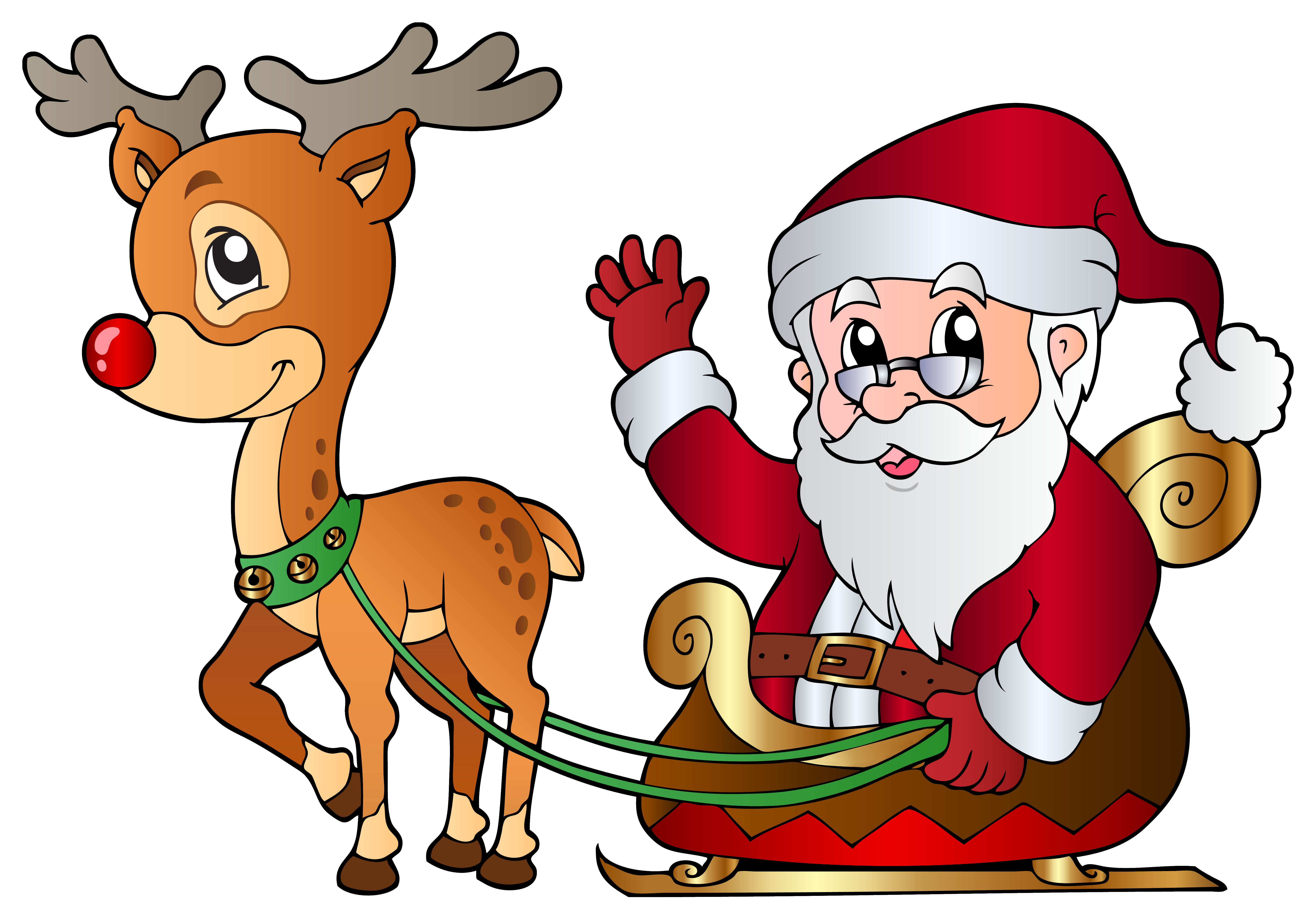 Christmas cliparts rudolph download. Free color santa peek a boo clipart