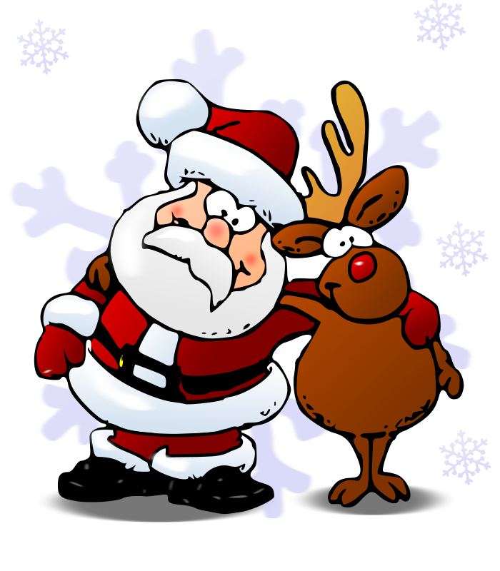 Free color santa peek a boo clipart clipart black and white library Rudolph Clipart – Gclipart.com clipart black and white library