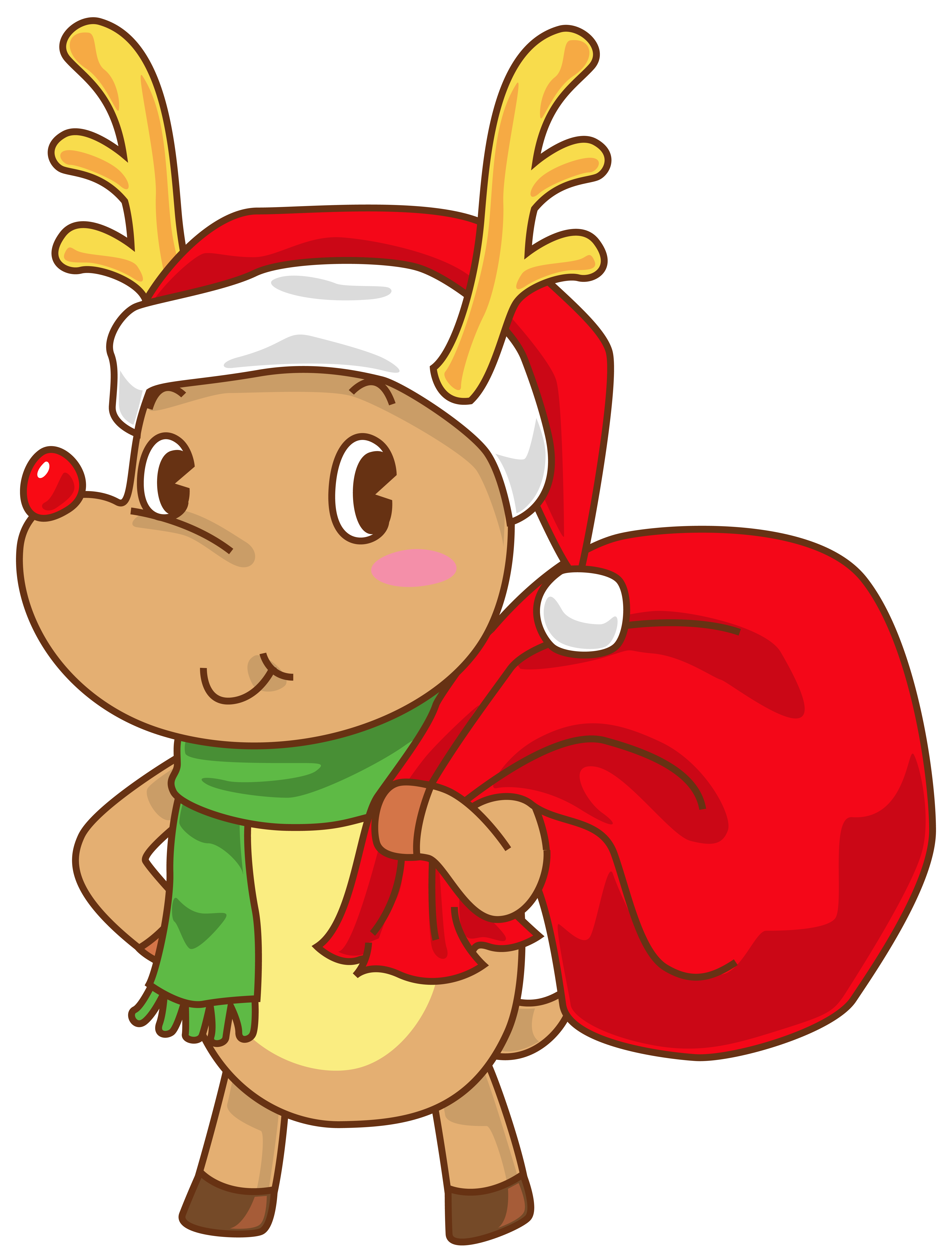 Free color santa peek a boo clipart. Christmas cliparts rudolph download