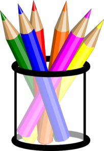 Pencils panda images . Free colored pencil clipart