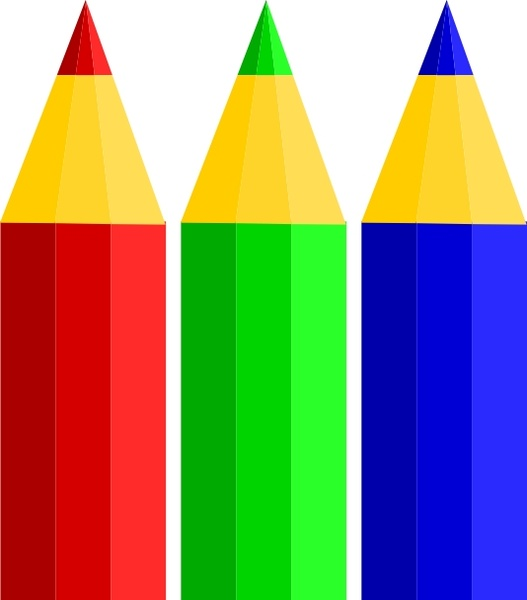 Free colored pencil clipart. Color pencils clip art