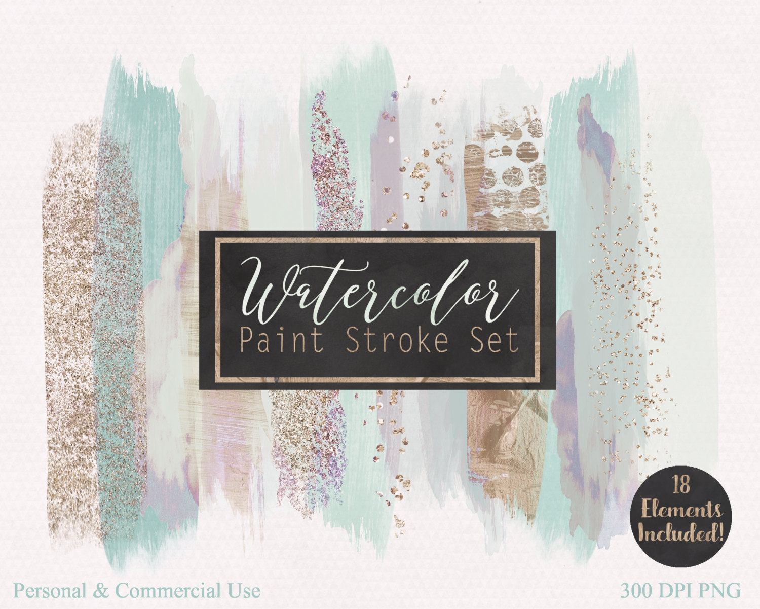 Free commercial use clipart for logo png library BRUSH STROKE Clip Art Commercial Use Clipart Watercolor Paint ... png library