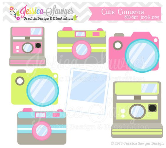 Free commercial use clipart for logo royalty free library INSTANT DOWNLOAD, cute camera clip art, camera clipart ... royalty free library
