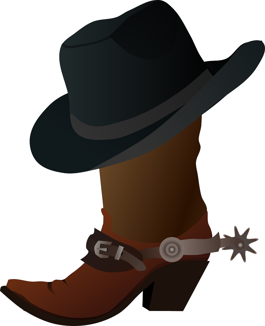 Free commercial use cowboy spurs clipart. Image on pixabay boots