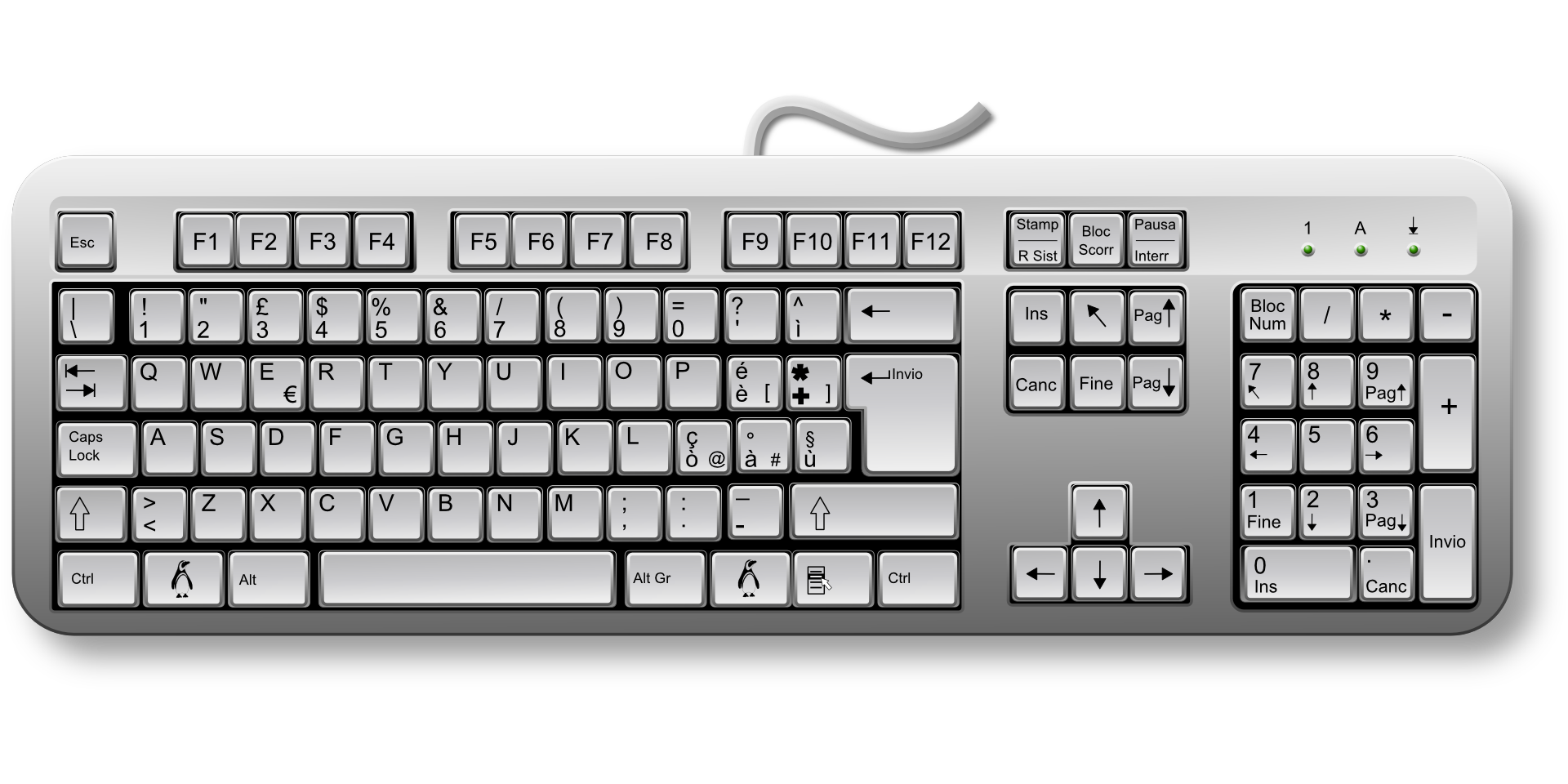 Free computer keyboard clipart clip transparent library 28+ Collection of Drawing Of Keyboard Of Computer | High quality ... clip transparent library