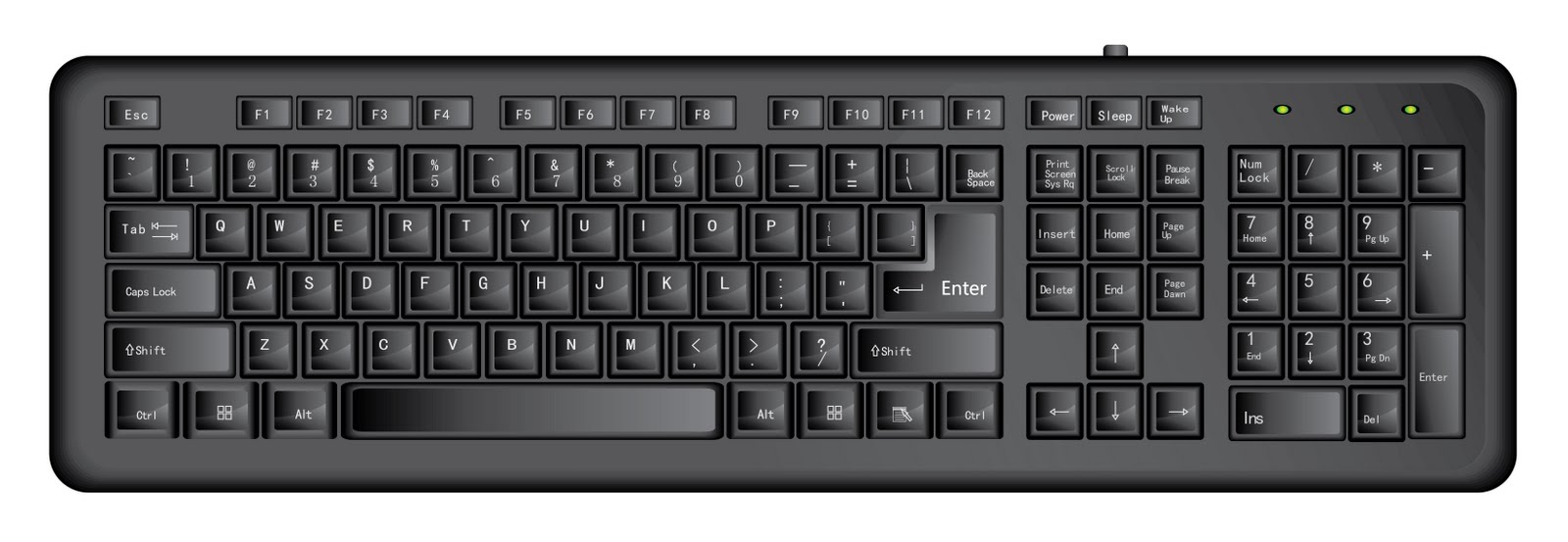 Free computer keyboard clipart