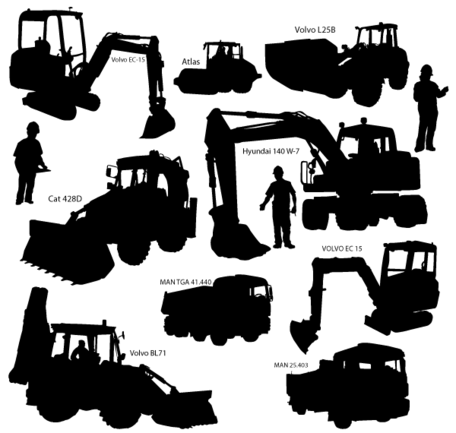 Heavy equipment operator clipart