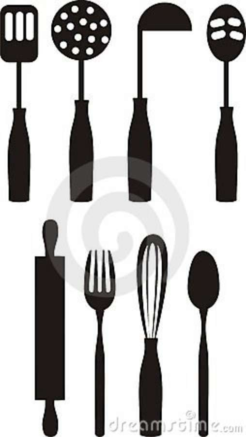 Free cooking utensils clipart vector free library Cooking Utensils Clip Artcooking Culinary Kitchen Utensils Clip Art ... vector free library