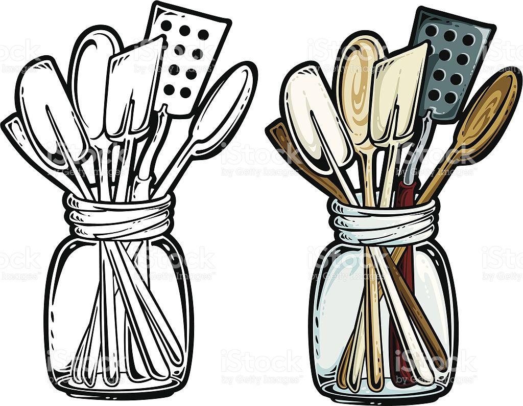 Free cooking utensils clipart jpg kitchen graphics | Vintage Cooking Utensils Clipart | Places to ... jpg