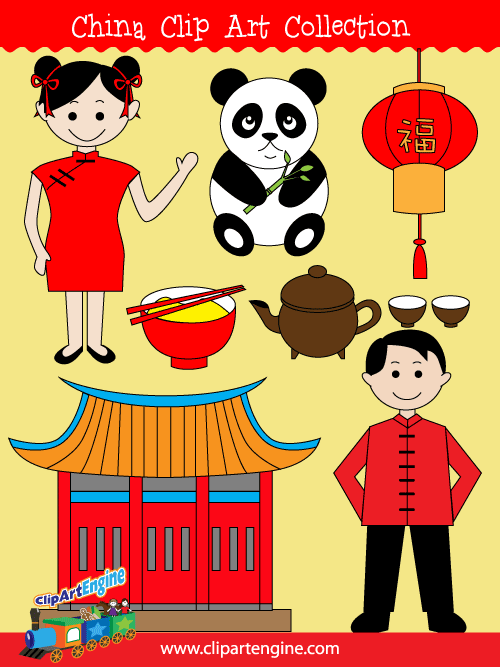 Free copyright free clipart vector for commercial use. China clip art collection