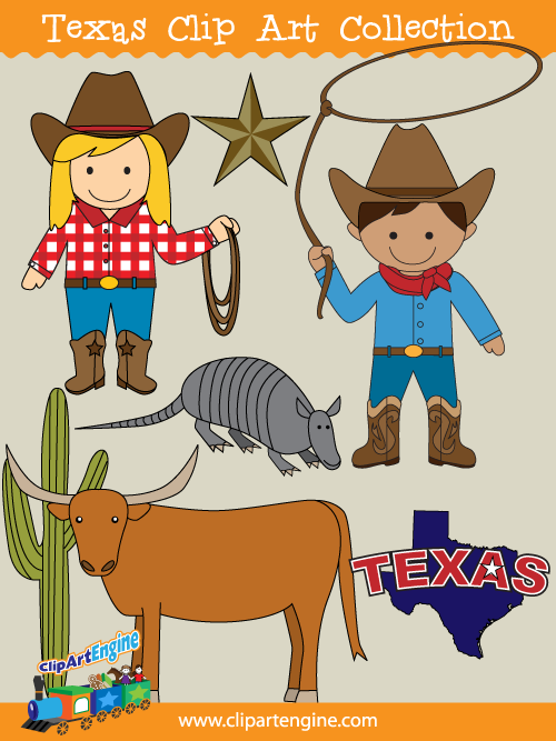 Texas clip art collection. Free copyright free clipart vector for commercial use