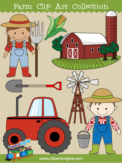 Free copyright free clipart vector for commercial use. Our farm clip art