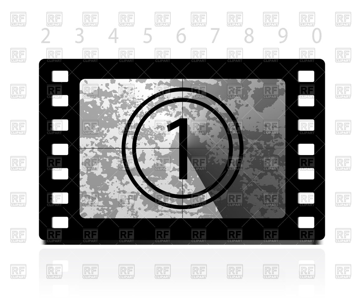 Free countdown clipart clip transparent download Grunge film countdown Vector Image #74529 – RFclipart clip transparent download