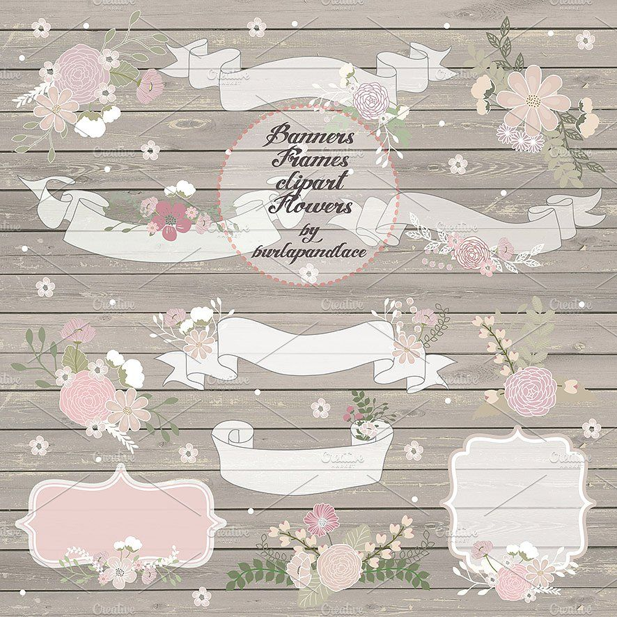 Free country wedding clipart royalty free Rustic wedding banners by burlapandlace on @creativemarket | Bujo ... royalty free