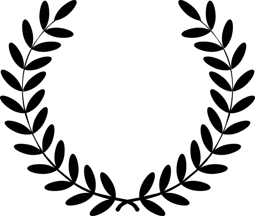 Free crown clipart black and white png freeuse library White Laurel Wreath Outline Clipart & White Laurel Wreath Outline ... png freeuse library