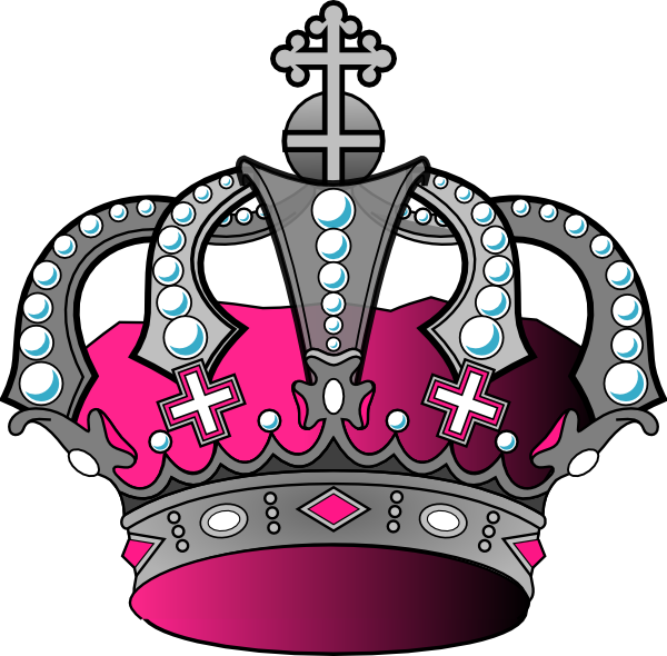 Royalty free crown clipart png images library Silver Pink Crown Clip Art at Clker.com - vector clip art online ... library