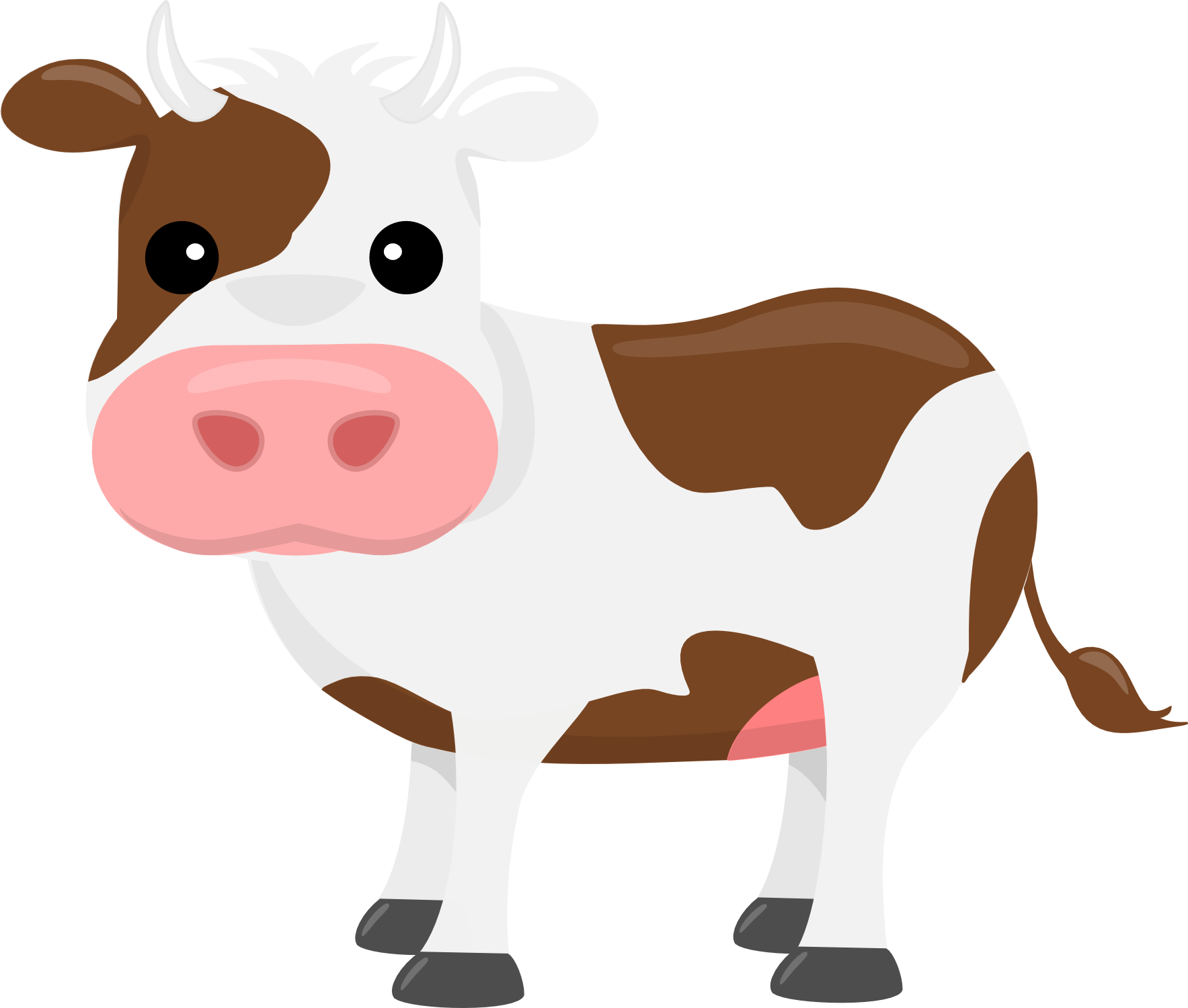 Free cute cow clipart free library On The Farm Clip-Art | Brooklyn | Clip art, Cow clipart, Cow free library