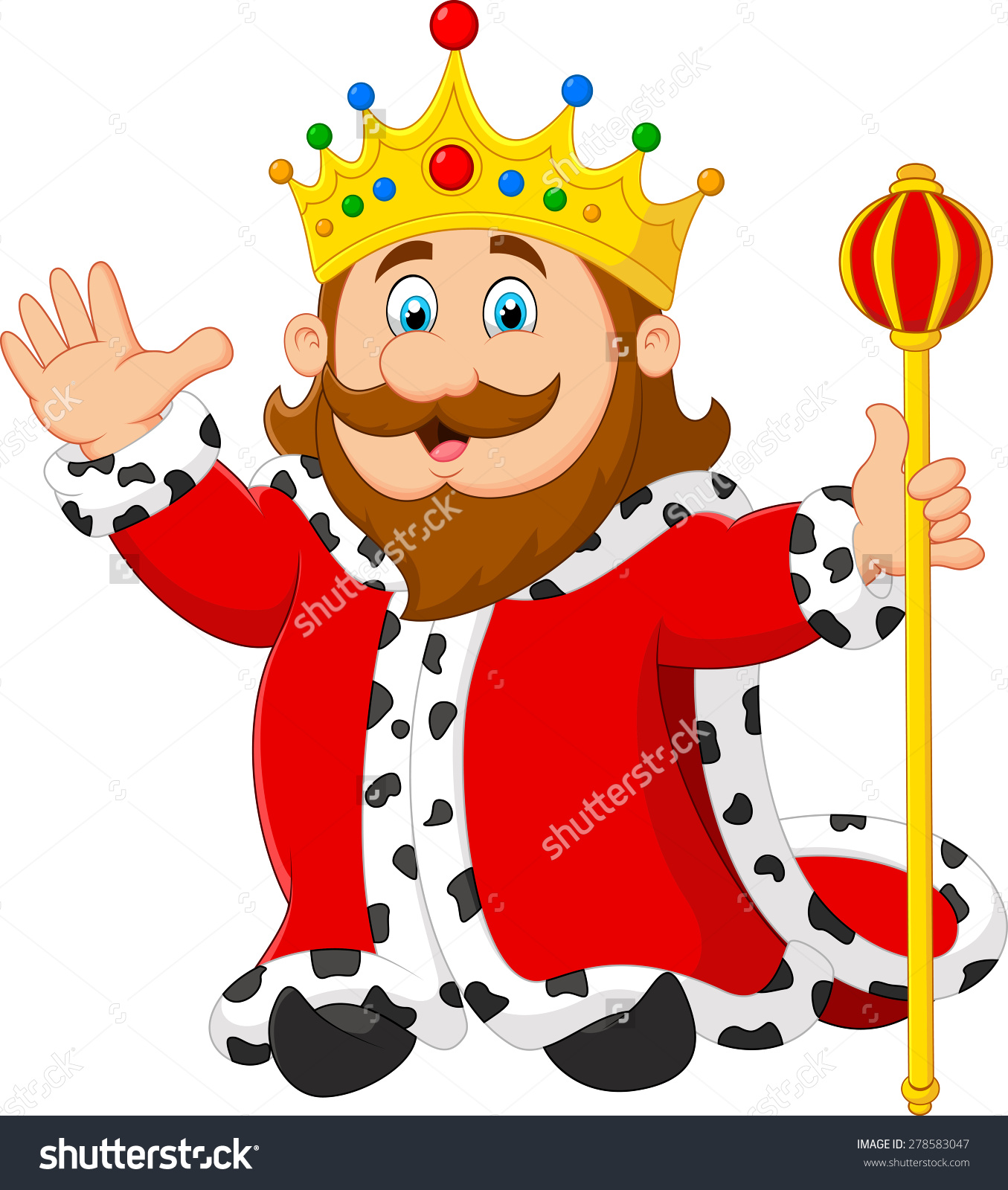 Free cute king on a throne clipart.  clip art clipartlook