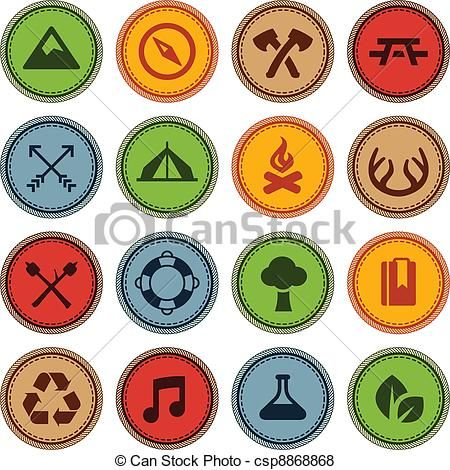 Free cute tax time icons vector clipart green banner royalty free library Vector - Merit badges - stock illustration, royalty free ... banner royalty free library