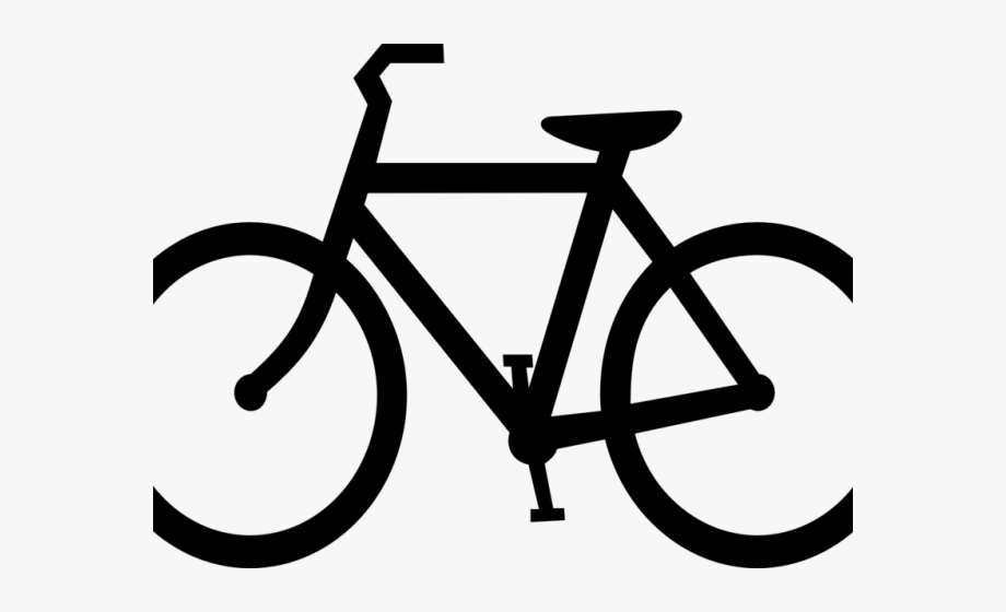 Transparent bicycle symbol cliparts. Free cycling clipart images