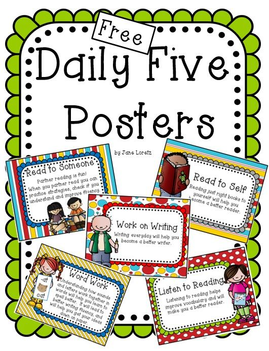 Free daily 5 clipart graphic black and white download Free Daily Five posters. | Daily 5 | Daily five posters, Daily 5 ... graphic black and white download