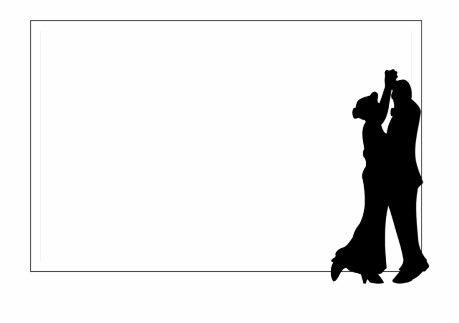 Free dance clipart borders. Border silhouettes stock photo