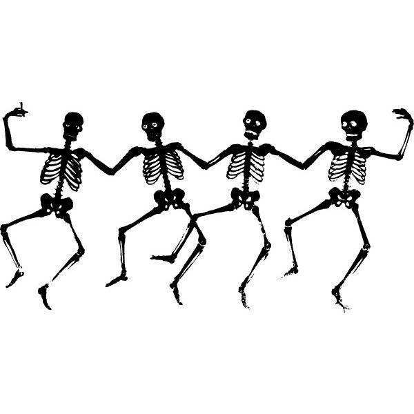 Free dancing skeleton clipart clip transparent library Dancing Skeletons clip art Free vector in Open office drawing svg ... clip transparent library