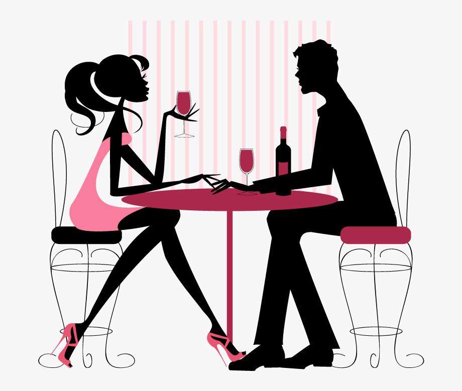 Free dating clipart vector transparent Couple Dinner Png - Dating Clipart #455966 - Free Cliparts on ... vector transparent