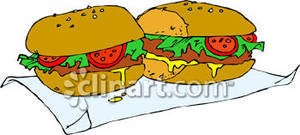 Free deli clipart clip freeuse library Deli Grinder Sandwich - Royalty Free Clipart Picture clip freeuse library