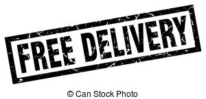 Free delivery clipart. Stamp illustrations and clip