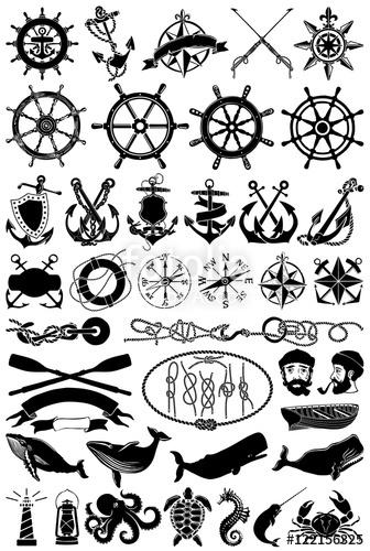 Free design elements clipart. Vintage vector maritime clip