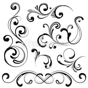 Free design elements clipart. Stock illustration swirl images