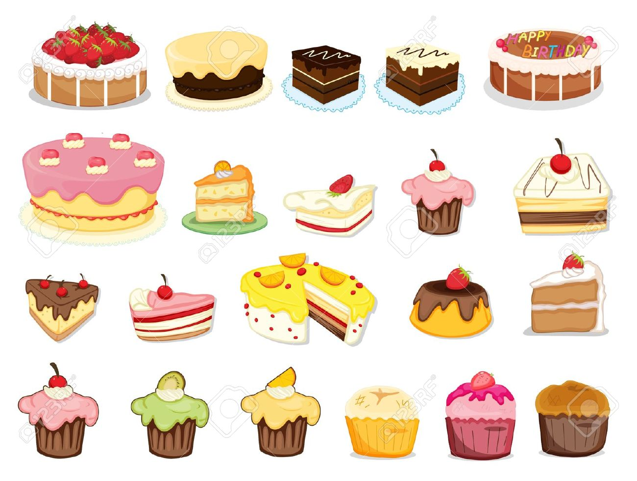 Free dessert clipart images clipart royalty free library Best Dessert Clipart #12437 - Clipartion.com clipart royalty free library