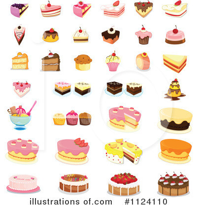 Free dessert clipart images clip art black and white library Dessert Clipart #1124110 - Illustration by Graphics RF clip art black and white library