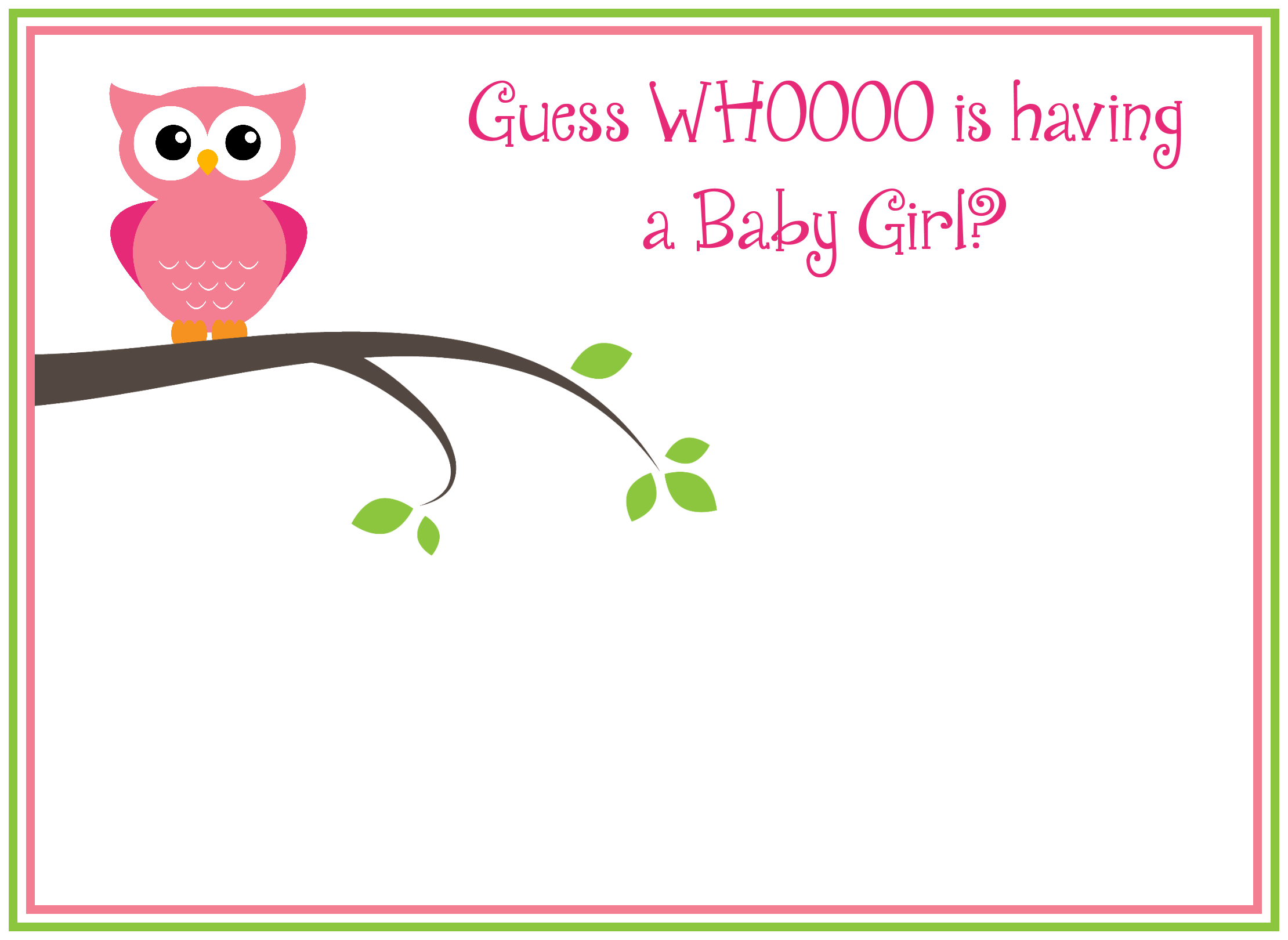 Free diy girl baby showers owls clipart clip black and white download Free diy girl baby showers owls clipart - ClipartFest clip black and white download