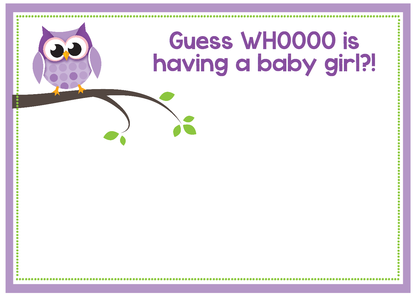 Free diy girl baby showers owls clipart vector black and white stock Free Printable Owl Baby Shower Invitations vector black and white stock