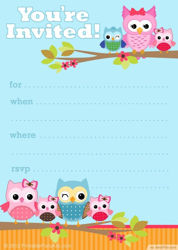 Free diy girl baby showers owls clipart clip library library 6 Smart Owl Baby Shower Invitations Printables & Ideas For Kids ... clip library library