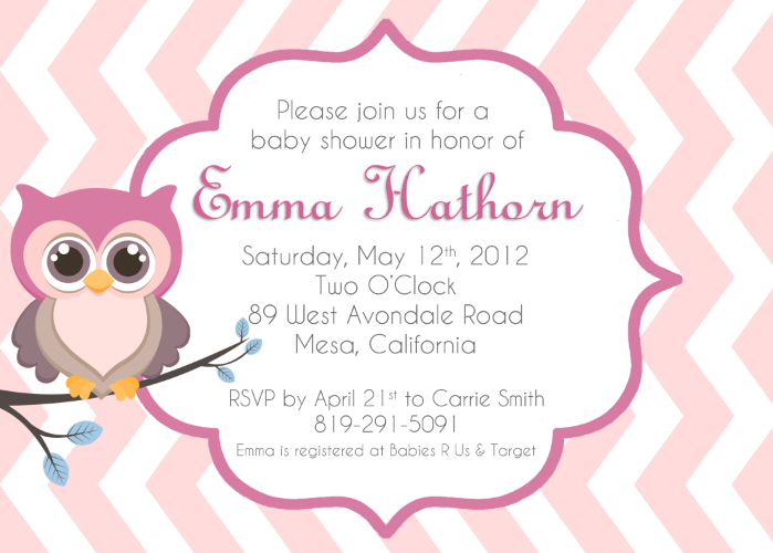 Free diy girl baby showers owls clipart stock Baby Owl Invitations Clipart - Clipart Kid stock