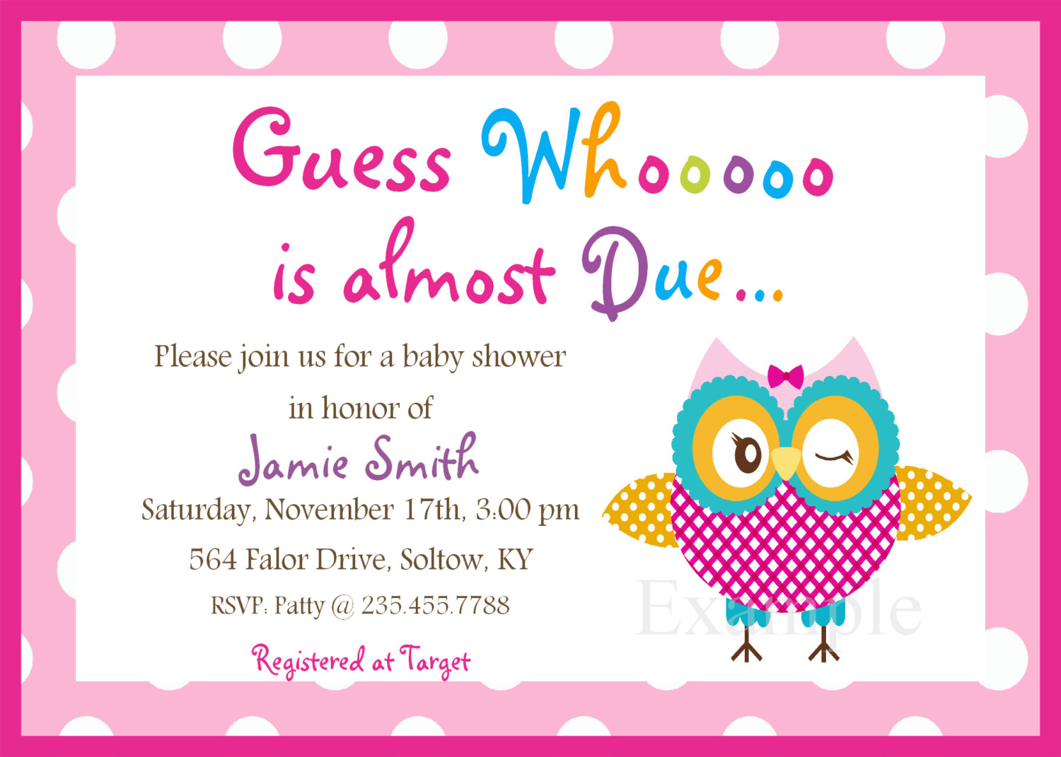Free diy girl baby showers owls clipart picture royalty free stock 17 Best images about Baby Shower Invitations on Pinterest | Shower ... picture royalty free stock