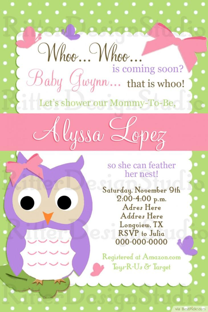 Free diy girl baby showers owls clipart royalty free stock 6 Smart Owl Baby Shower Invitations Printables & Ideas For Kids ... royalty free stock