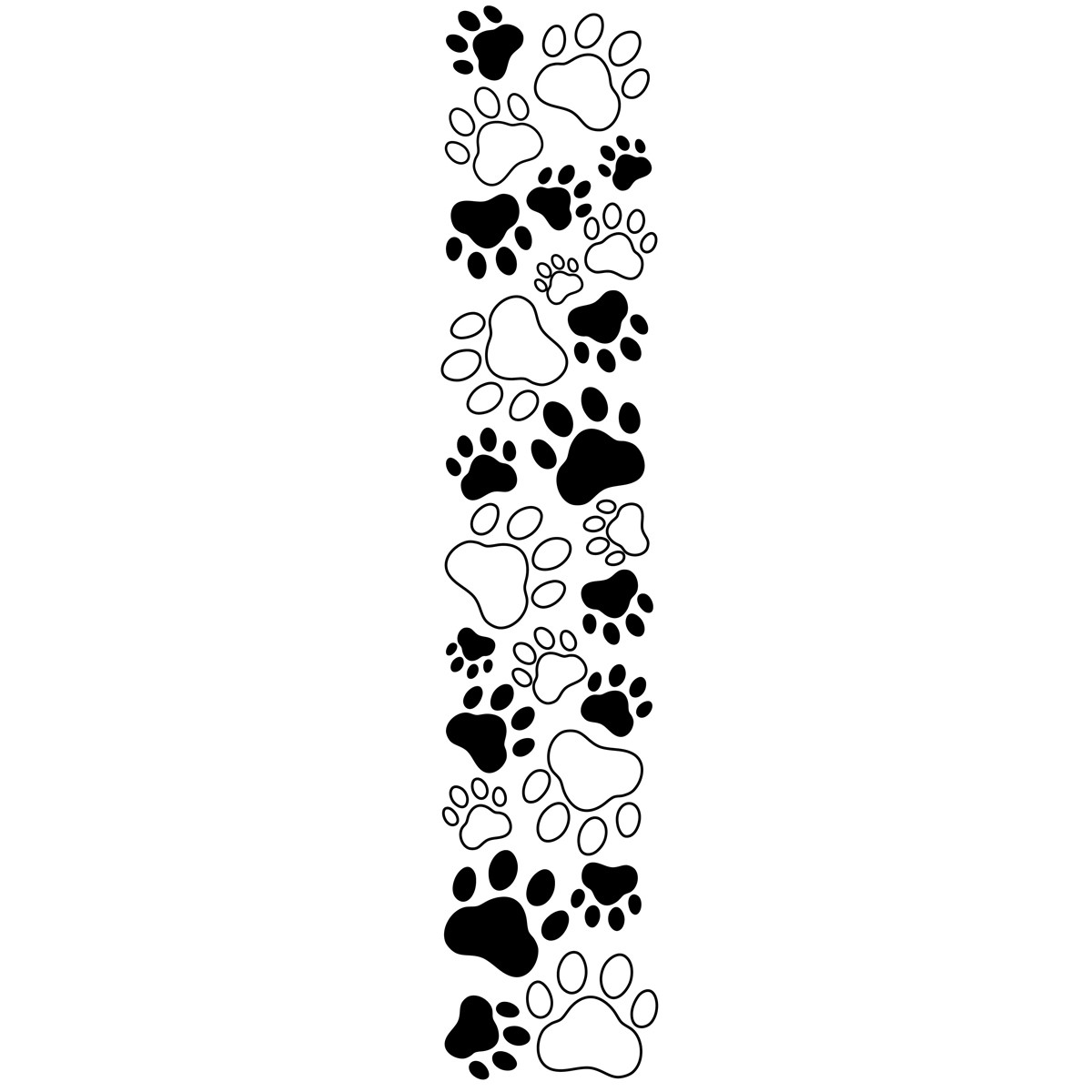 Paw print clipart free border picture library library Dog Bone Border Clip Art | Clipart Panda - Free Clipart Images picture library library