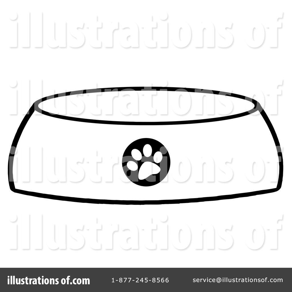 Free dog bowl clipart png library Dog Bowl Clipart #1097136 - Illustration by Hit Toon png library