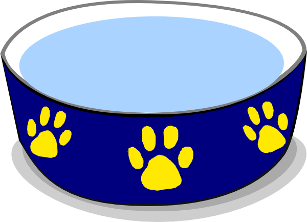 Free dog bowl clipart graphic free Dog Water Bowl Clip Art Vector | Clipart Panda - Free Clipart Images graphic free