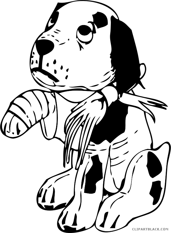 Free dog clipart black and white jpg transparent Sad Dog Clipart - ClipartBlack.com jpg transparent
