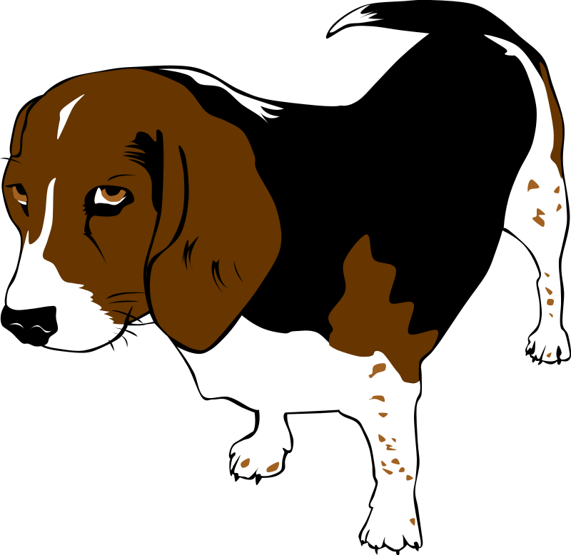 Free dog clipart images svg black and white stock Dog clipart beagle ~ Frames ~ Illustrations ~ HD images ~ Photo ... svg black and white stock