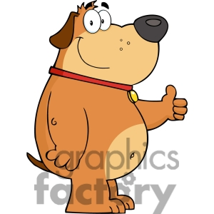 Free dog clipart thumbs up and down png library download Fat Dog Clipart - Clipart Kid png library download